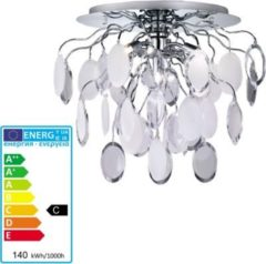 Reality RealityTrio ECO Deckenleuchte Deckenlampe, chrom mit Acrylbehang weiß/klar