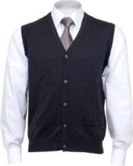 Grijze OLYMP mouwloos heren vest wol - V-hals - antraciet - Maat XL