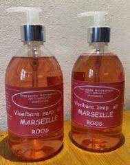 Provendi Vloeibare Marseille zeep, pompje 2 x 500 ml Roos