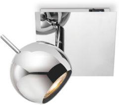 Zilveren Home sweet home LED opbouwspot Bollo ↔ 14 cm - chroom