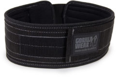 "Lifting belt Gorilla Wear 4"" Nylon - Gewichthefriem - Halterriem - S/M - Zwart"