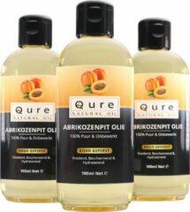 Qure Natural Oil Abrikozenpit Olie | 100% Puur & Onbewerkt (100ml) | Abrikozenpitolie voor Haar, Gezicht en Lichaam