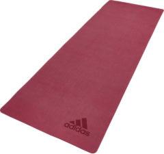 Rode Adidas Mistery Ruby premium yogamat / fitnessmat - 5 mm