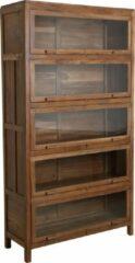 Bruine Raw Materials Teakhouten kast - Vitrinekast - 107x40x198 cm