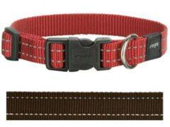 Rogz for Dogs Snake Hondenhalsband Verstelbaar Bruin 40 x 1,6 cm