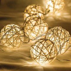 Zeichenfolge Wicker Kugel 10 LED Licht - HQ