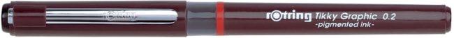 Afbeelding van Zwarte Rotring fineliner Tikky Graphic 0,2 mm