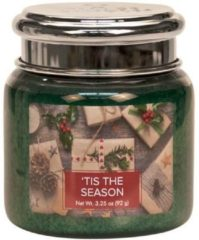 Village candle Village Geurkaars 'T is The Season | rode bes cassis cypres - Mini Jar