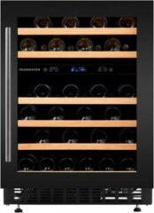Zwarte Dunavox FLOW 46DB - Wijnklimaatkast onderbouw - 2 temperatuurzones