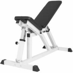 Witte Gorilla Sports Fitnessbank - Multifunctioneel - Verstelbaar in 6 posities