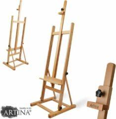 Artina Schildersezel Siena - Atelier Ezel van massief beukenhout - 56x170 cm - voor schildersdoeken tot 125 cm - inklapbaar