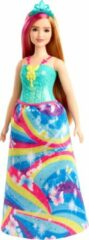 Mattel Barbie Dreamtopia Prinses - Blond/Roze haren - Curvy Barbiepop