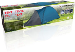 DUNLOP camping tent - 3 Persoons - Blauw - 210x220x130cm