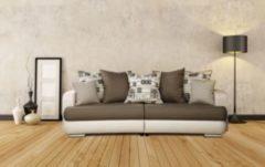 Baidani Designer Sofa m. Schlaffunktion Callander beige-braun