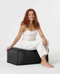 Xoft Living Chilly Linnen Zitzak Pouf - Zwart