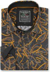 Gentile Bellini Heren Overhemd - Slim Fit - High Society - Zwart - Maat S