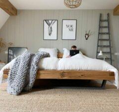 Coco & Cici zacht, luxe en duurzaam beddengoed - hoeslaken - eenpersoons - 90 x 210 x 30 - groen grijs