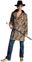 Retro 70's Volwassenenkostuum pooier mantel sheeba maat XXL