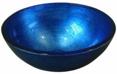 Sapho Murano glazen waskom 40cm blauw