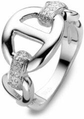 Velini jewels-R6880W-58 -Ring -925 Zilver gerodineerd- Cubic Zirkonia
