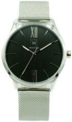Montreville MON-7 Horloge Tokyo staal zilverkleurig-zwart 40 mm