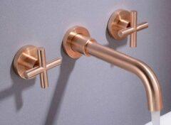 Roze Excellent Wellness Inbouw Muurkraan M8312 - Rose Gold - Lengte Uitloop 20 cm