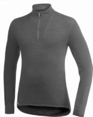 Licht-grijze Woolpower Zip Turtleneck 200 Shirt Middengrijs/Lichtgrijs