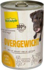 Ecostyle natvoer voor de volwassene hond 400gr voor overgewicht 6 stuks
