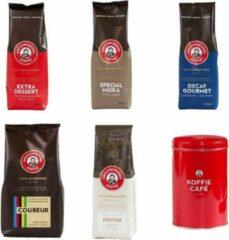 Grootmoeders Koffie - Proefpakket gemalen - 5 soorten + koffieblik