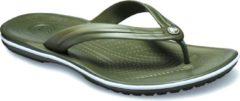 Crocs - Crocband Flip - Sandalen maat M9 / W11, olijfgroen