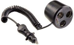 Zwarte Hama netvoedingen & inverters Hama 3-voudige verdeler rond 12V 12 volt aansluiting 86041