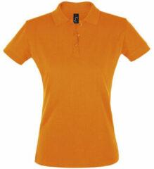 Oranje Polo Shirt Korte Mouw Sols PERFECT COLORS WOMEN