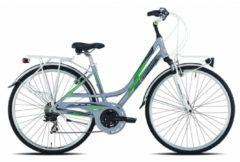 28 Zoll Damen Trekking Fahrrad Legnano Smeralda 21 Gang Legnano grün-silber