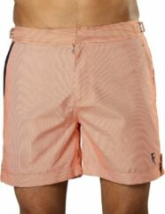 Sanwin Beachwear Korte Broek en Zwembroek Heren Sanwin - Oranje Tampa Stripes - Maat 33 - M