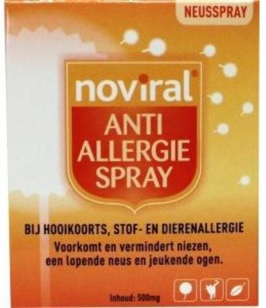 Afbeelding van Noviral Noviral anti allergie spray 800m Gram