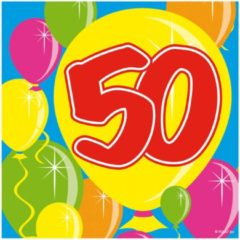Folat - Servetten - Balloons - 50 jaar - 25x25cm - 20st