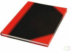 Rode Huismerk Notitieboek A4 Neutraal Lijn 96blz. Rood Zwart