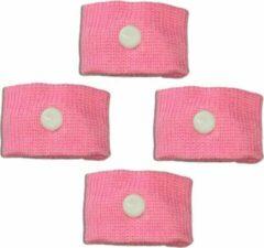 ProductGoods - 2 Paar Anti Wagenziek Bandjes - Anti Misselijkheid Band - Anti Misselijkheid Band - Anti Stoom Armband - Anti Misselijkheid Armband - Kleur Roze