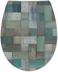 Douche Concurrent Toiletbril Cedo Mosaic Print Duroplast Softclose en Quickrelease Toiletzitting