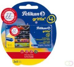 Pelikan inktpatronen Griffix, koningsblauw, blister met 2 doosjes van 5 stuks