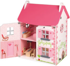 Roze Janod Mademoiselle poppenhuis van hout