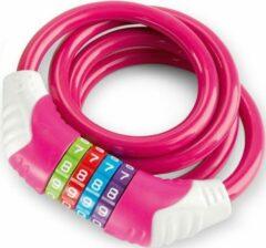 Veiligheids kabelslot Puky roze