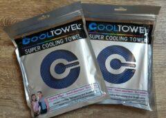 Donkerblauwe CoolTowel Sport handdoek |set 2 x cool towel | ice towel | koel handdoek | cold pack |cooling towel | verkoelende handdoek | sterk absorberend | snel drogend | yoga, fitness, hard lopen