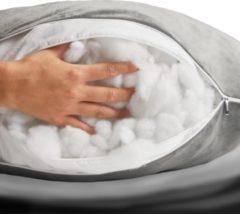 Witte Telano Kussenvulling 250 gram - D15 polyestervulling voor Zwangerschapskussen en Voedingskussen