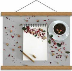 Rode KuijsFotoprint Schoolplaat – Koffiebonen met Kruiden - 40x30cm Foto op Textielposter (Wanddecoratie op Schoolplaat)