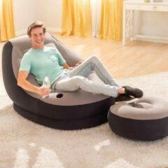 Grijze Intex Opblaasstoel met poef Ultra Lounge Relax 68564NP