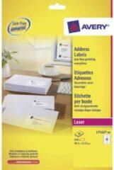 Avery L7162-40 adresetiketten ft 99,1 x 33,9 mm (b x h), 640 etiketten, wit