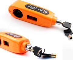 Oranje Caps Lock Motorslot - scooterslot - fietsslot - stuurslot