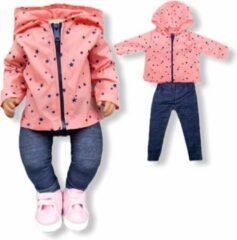Isa's Friends Poppenkleding meisje - Baby Born kleertjes o.a. - Poppenkleertjes 43 cm - Roze jasje met broekje - Sinterklaas - Gratis verzending