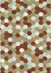 Eurogros Modern Vloerkleed - Amado 6474 - Rood - Stijlvol - Honinggraad - Antislip - Geluiddempend - Anti allergie - Eenvoudig schoonmaken - Kleurrijk - Speels - Makkelijk te combineren